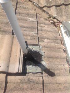 leaking lead flashing